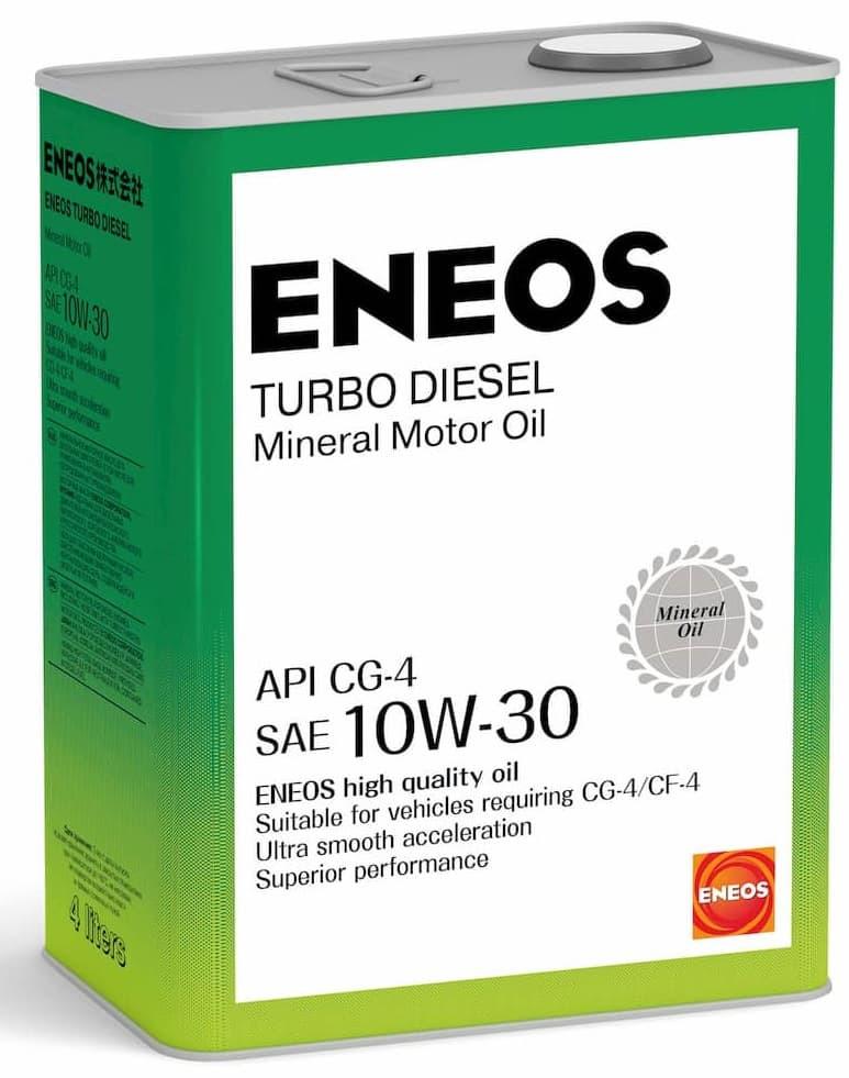 Моторное масло Масло моторное минеральное ENEOS Turbo Diesel 10W-30 СG-4 4л oil1424 купить в Абакане
