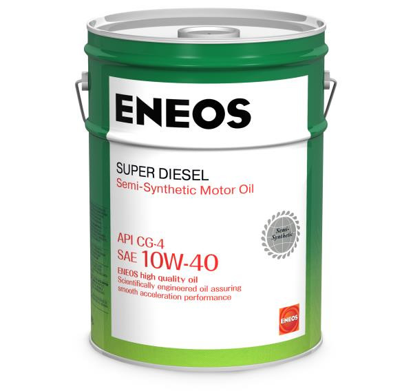 Моторное масло Масло моторное ENEOS Super Diesel CG-4 псинт 10W40 20л oil1327 купить в Абакане