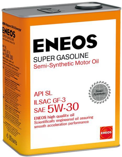 Моторное масло Масло моторное ENEOS Super Gasoline SL псинт 5W30 4л oil1361 купить в Абакане