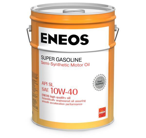 Моторное масло Масло моторное ENEOS Super Gasoline SL псинт 10W40 20л oil1356 купить в Абакане