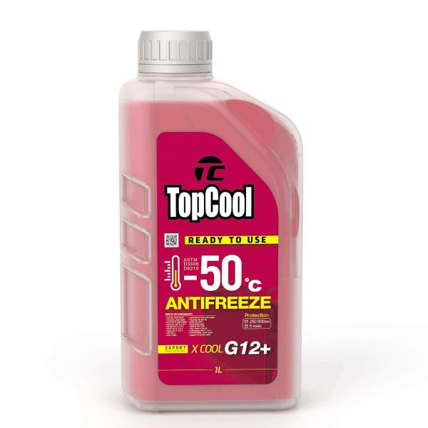 Жидкость охлаждающая TopCool Antifreeze Х cool -50 C 1л. (розовый) G12+ Z0037 купить в Абакане