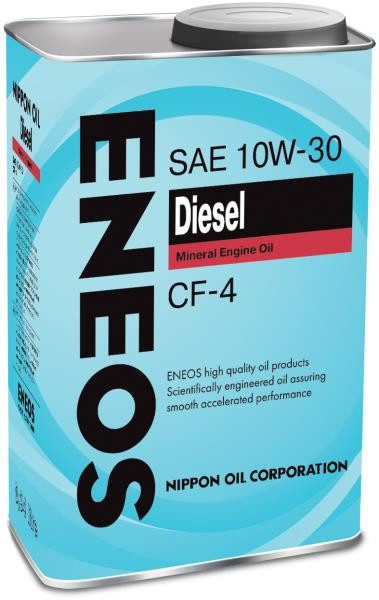 Моторное масло Масло моторное ENEOS Diesel CF-4 Минерал 10W30 0, 94л 01000026 купить в Абакане