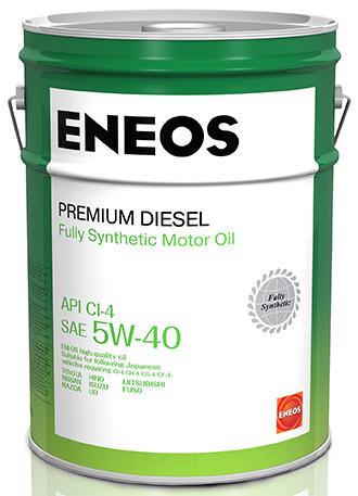 Моторное масло Масло моторное ENEOS Premium Diesel CI-4 Синтетика 5W-40 20л 8809478942827 купить в Абакане