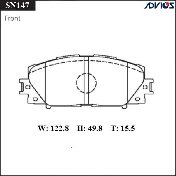 Дисковые тормозные колодки ADVICS SN147 SN147 купить в Абакане