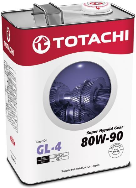 Масло трансмиссионное TOTACHI Super Hypoid Gear GL-4 псинт 80W90 4л 4562374691841 купить в Абакане