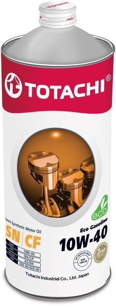 Моторное масло Полусинтетическое моторное масло TOTACHI Eco Gasoline SN / CF 10W-40 1л 4589904934902 купить в Барнауле