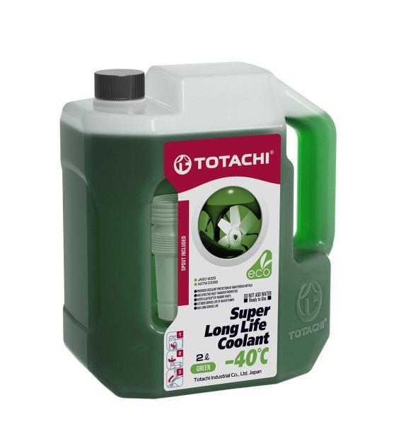 Жидкость охлаждающая низкозамерзающая TOTACHI SUPER LONG LIFE COOLANT Green -40C 2л 4589904520525 купить в Абакане
