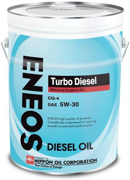 Моторное масло Масло моторное ENEOS Turbo Diesel CG-4 Минерал 5W30 20л 01000052 купить в Абакане