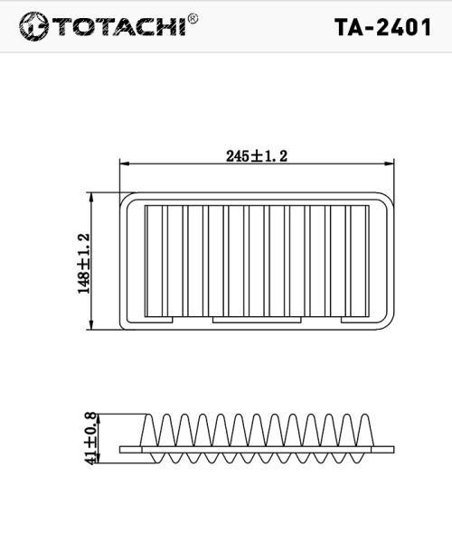Воздушный фильтр TOTACHI TA-2401 A-964 1378083G00 C25006 TA-2401 купить в Абакане