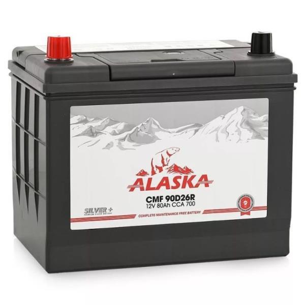 Аккумулятор ALASKA CMF 257 / 172 / 220, 80А / ч, ССА 700А, Прям. 90D26FR silver+ 8808240010696 купить в Абакане