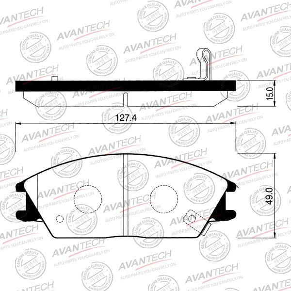 Колодки тормозные дисковые Avantech (противоскрипная пластина в компл.) - AV010 AV010 купить в Абакане