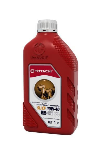 Моторное масло Масло моторное TOTACHI NIRO Optima Pro Semi-Synthetic SL / CF 10W-40 пласт. 1л 4589904928826 купить в Абакане