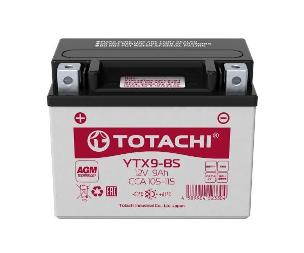Аккумуляторная батарея TOTACHI CMF 9 а / ч YTX9-BS R AGM 4589904523304 купить в Абакане