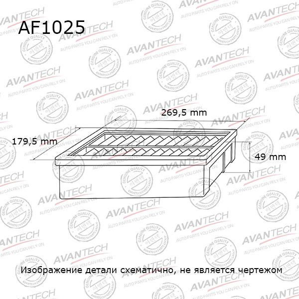 Фильтр воздушный Avantech-AF1025 AF1025 купить в Абакане