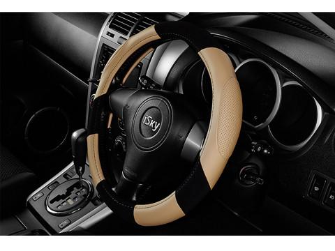 Чехол на руль iSky с эргономичными перфорированными вставками, кожзам, размер S, светл.-беж. iSW-08SL.BE купить в Абакане