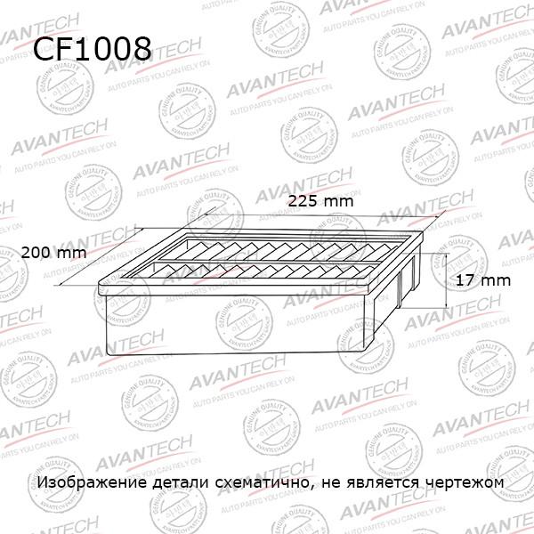 Фильтр салонный Avantech - CF1008 CF1008 купить в Абакане