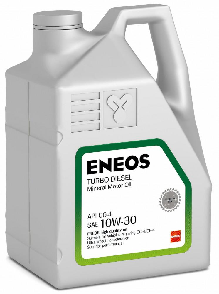 Моторное масло Масло моторное минеральное ENEOS Turbo Diesel 10W-30 СG-4 6л oil1426 купить в Воронеже