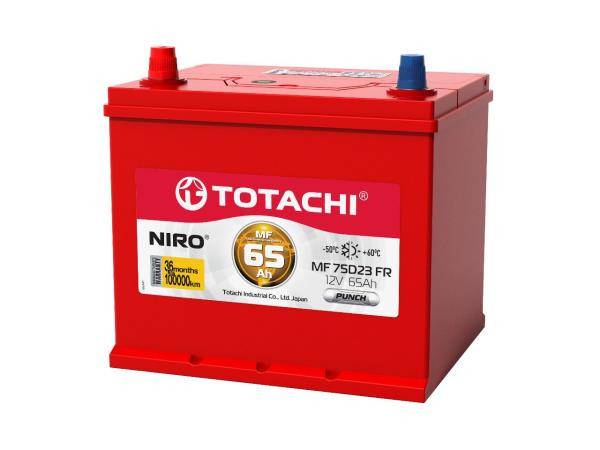 Аккумулятор TOTACHI NIRO MF 80D26, 75а / ч FR, PUNCH 4589904928642 купить в Абакане