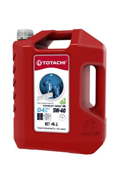 Моторное масло Масло моторное TOTACHI NIRO HD Synthetic API CI-4 / SL 5W-40 пласт. 4л 4589904927386 купить в Абакане
