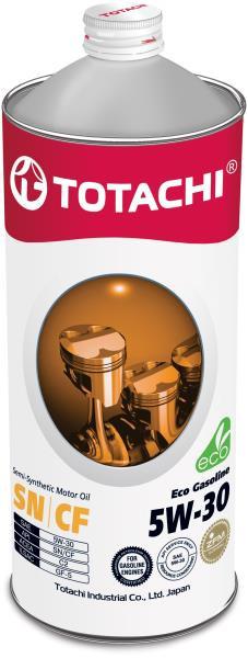 Моторное масло Полусинтетическое моторное масло TOTACHI Eco Gasoline SN / CF 5W-30 1л 4589904934858 купить в Барнауле