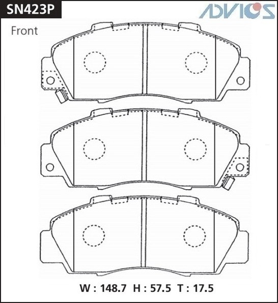 Дисковые тормозные колодки ADVICS SN423P SN423P купить в Абакане