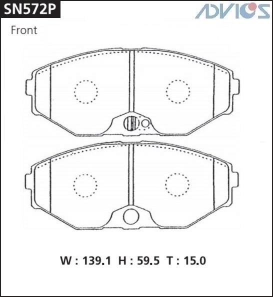 Дисковые тормозные колодки ADVICS SN572P SN572P купить в Абакане