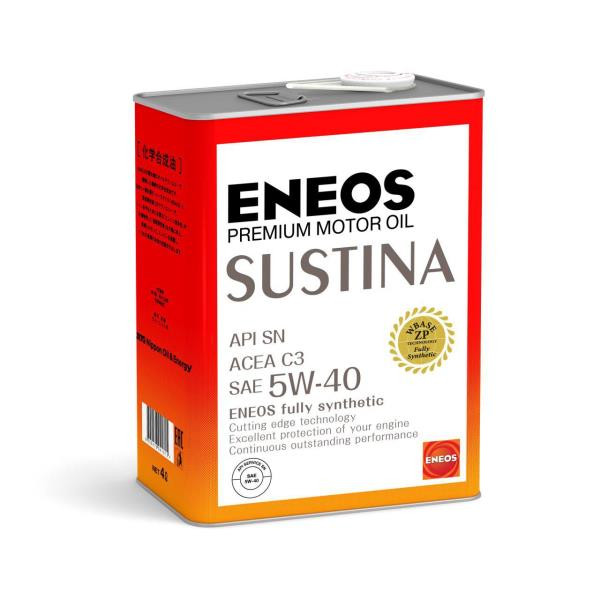 Моторное масло Масло моторное ENEOS SUSTINA SN Синтетика 5W-40 4л 4943589134710 купить в Абакане