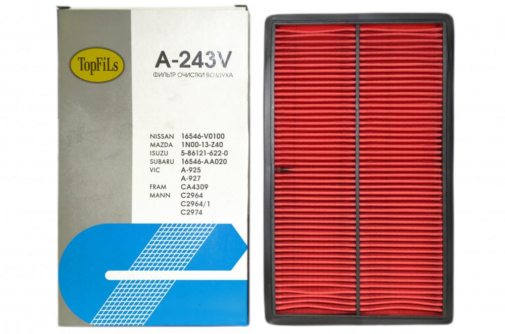 Фильтр воздушный TOP FILS A-243 V 16546-V0100 A-243 V купить в Абакане