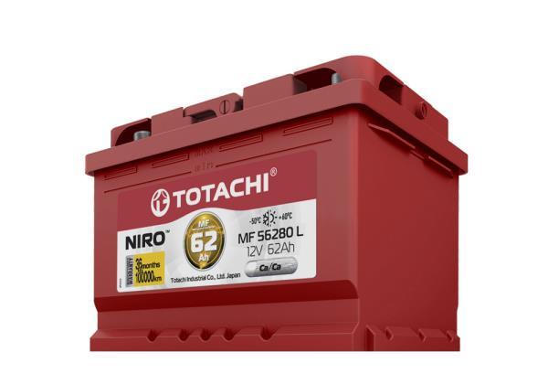 Аккумулятор TOTACHI NIRO MF 56280, 62а / ч L, низкий корпус 4589904925566 купить в Абакане