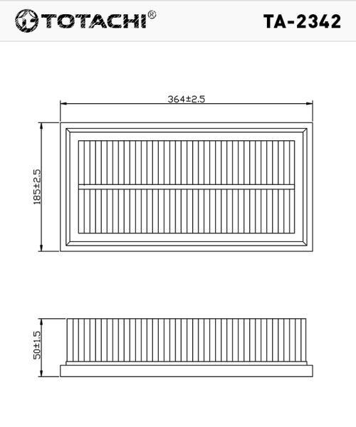 Воздушный фильтр TOTACHI TA-2342 1J0129620 C37153 TA-2342 купить в Абакане