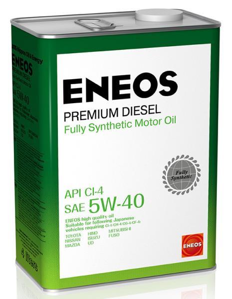 Моторное масло Масло моторное ENEOS Premium Diesel CI-4 Синтетика 5W-40 4л 8809478943077 купить в Абакане