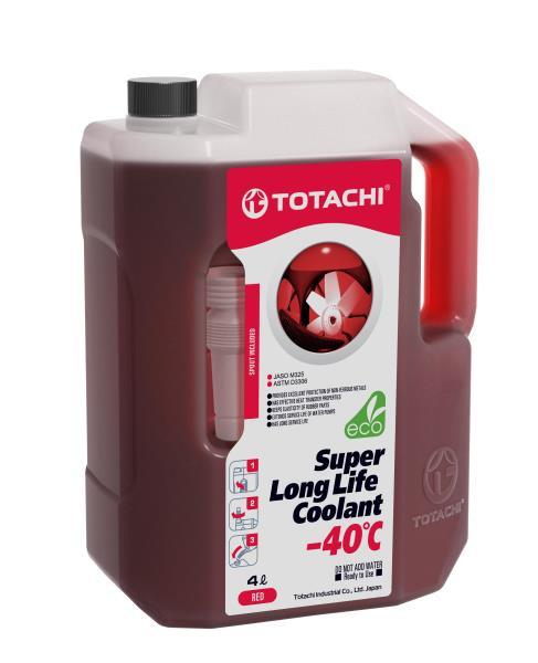 Жидкость охлаждающая низкозамерзающая TOTACHI SUPER LONG LIFE COOLANT Red -40C 4л 4589904520716 купить в Абакане