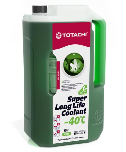 Жидкость охлаждающая низкозамерзающая TOTACHI SUPER LONG LIFE COOLANT Green -40C 5л 4589904924767 купить в Абакане