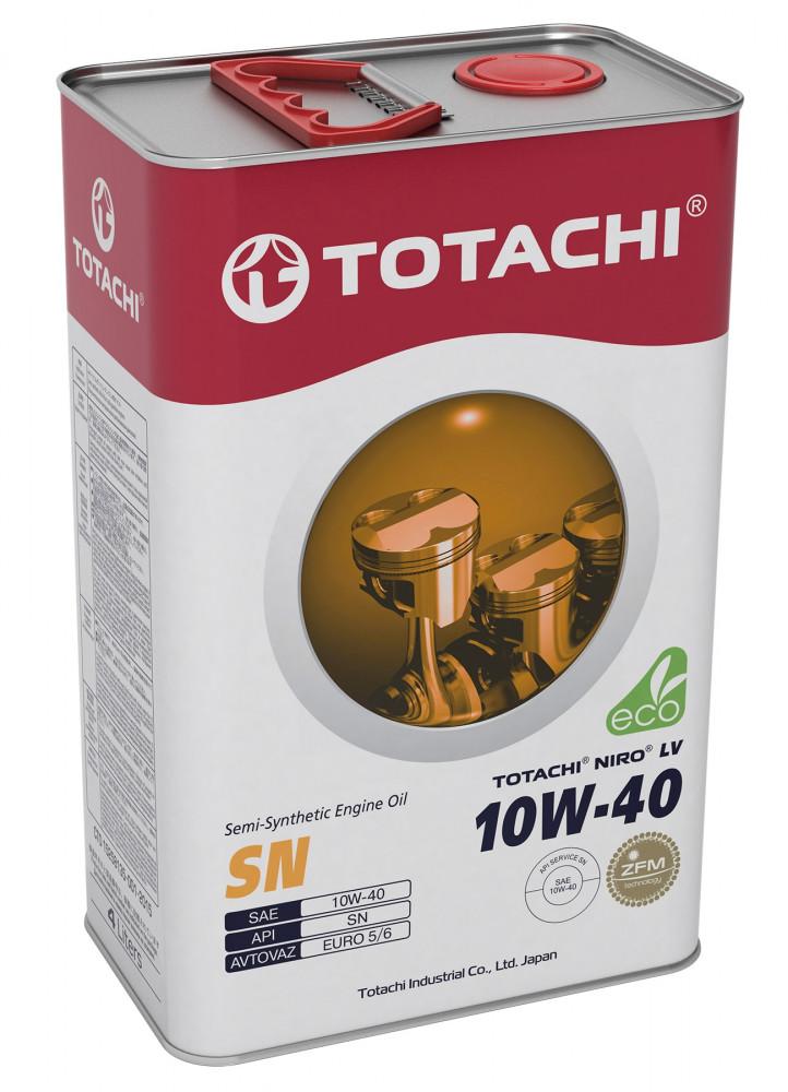 Моторное масло Масло моторное TOTACHI NIRO LV Semi-Synthetic SN 10W-40 4л 4589904922039 купить в Барнауле