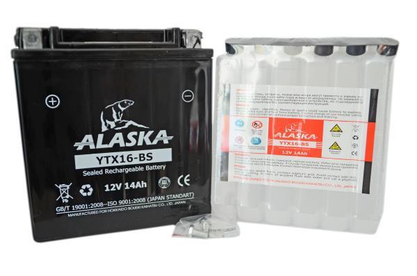 Аккумуляторная батарея ALASKA 14АЧ YTX16-BS 12V YTX16-BS купить в Абакане
