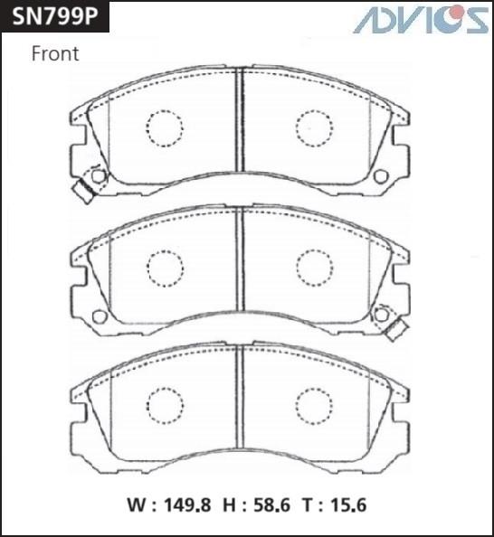 Дисковые тормозные колодки ADVICS SN799P SN799P купить в Абакане