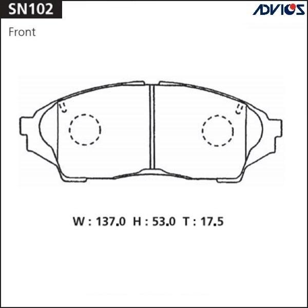Дисковые тормозные колодки ADVICS SN102 SN102 купить в Абакане