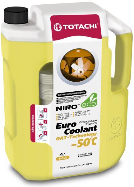 Охлаждающая жидкость TOTACHI NIRO EURO COOLANT -50°C Карбоксилатн. 4л 4589904924118 купить в Абакане
