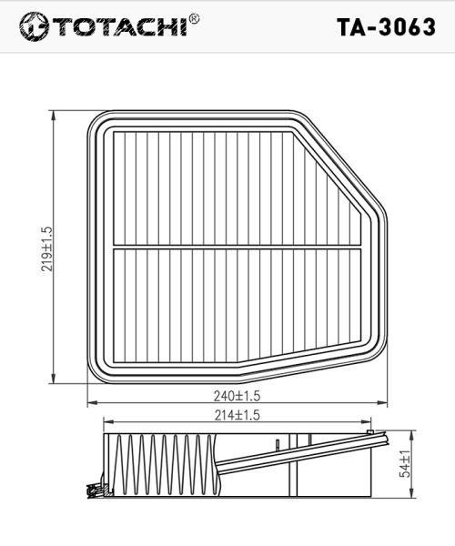 Воздушный фильтр TOTACHI TA-3063 1378078K00 C24567 TA-3063 купить в Абакане
