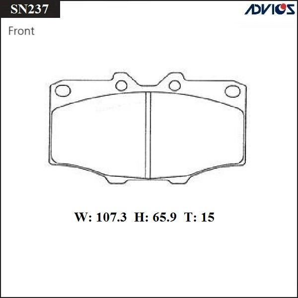 Дисковые тормозные колодки ADVICS SN237 SN237 купить в Абакане