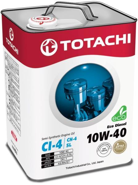 Моторное масло Масло моторное TOTACHI Eco Diesel CI-4 / CH-4 / SL псинт 10W40 6л 4562374690530 купить в Абакане