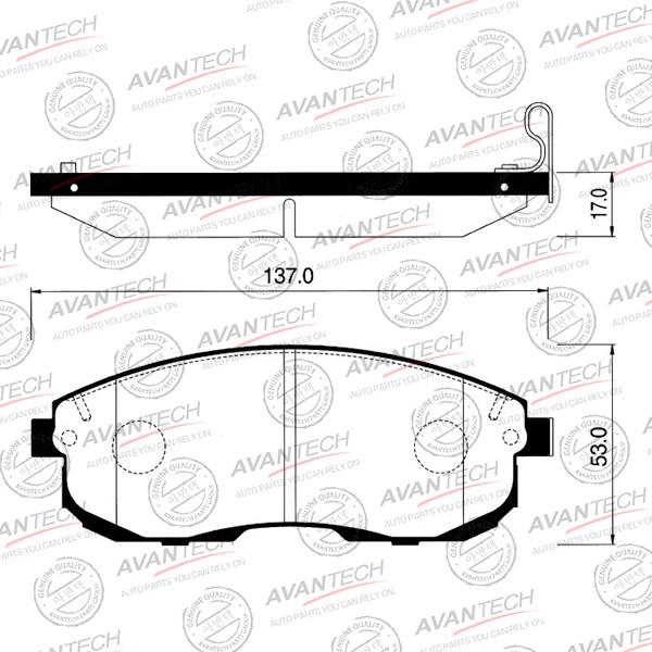 Колодки тормозные дисковые Avantech - AV709 AV709 купить в Абакане