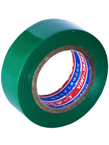 Лента изоляционная Denka Vini Tape, 19 мм, 9 м, зеленая #102-Green 9m купить в Абакане