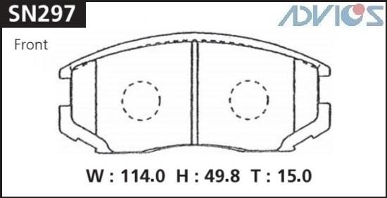 Дисковые тормозные колодки ADVICS SN297 SN297 купить в Абакане