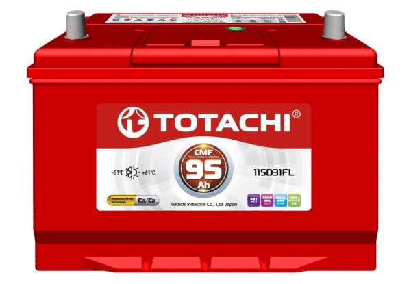 Аккумуляторная батарея TOTACHI CMF 95 а / ч 115D31 FL 4589904525759 купить в Абакане
