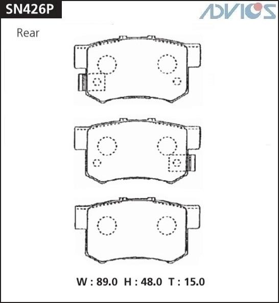 Дисковые тормозные колодки ADVICS SN426P SN426P купить в Абакане