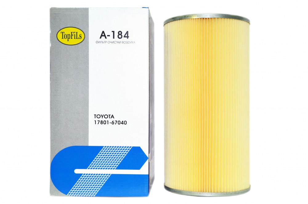 Фильтр воздушный TOP FILS A-184 17801-67040 A-184 купить в Абакане