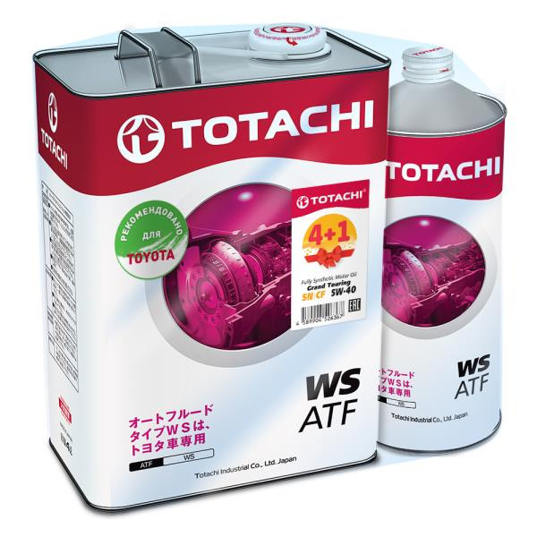 Жидкость для АКПП TOTACHI ATF WS синт. акция 4+1=5л A4562374691308 купить в Абакане