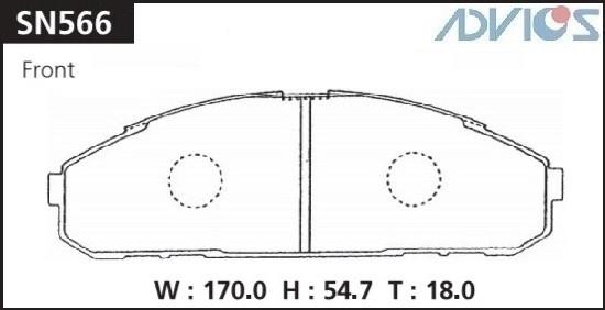 Дисковые тормозные колодки ADVICS SN566 SN566 купить в Абакане