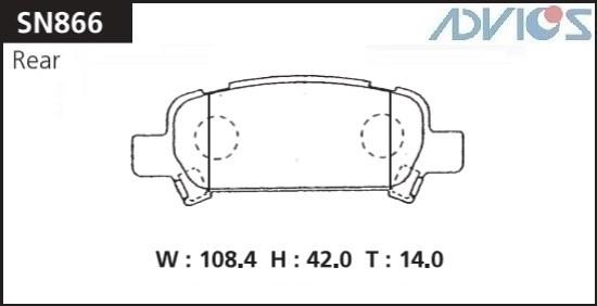 Дисковые тормозные колодки ADVICS SN866 SN866 купить в Абакане